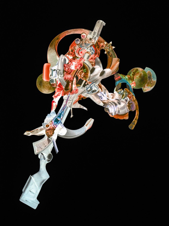 """Collage """"Gun Flower 03"""" von Thomas Born"""