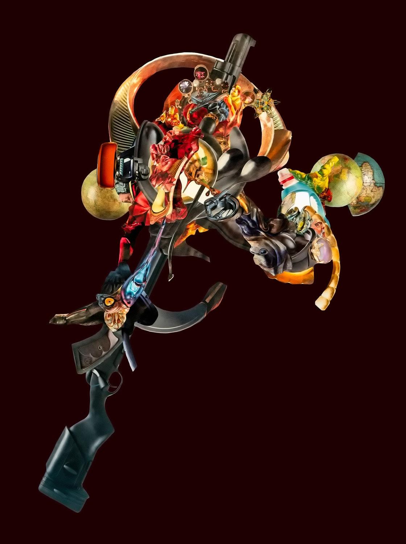 """Collage """"Gun Flower 02"""" von Thomas Born"""