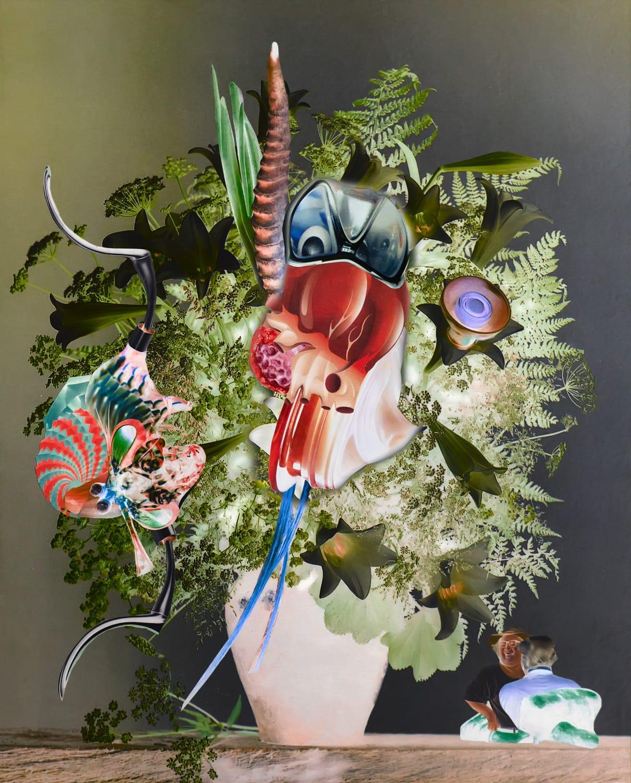 """Collage """"Asperger-Sträuße 07"""" von Thomas Born"""